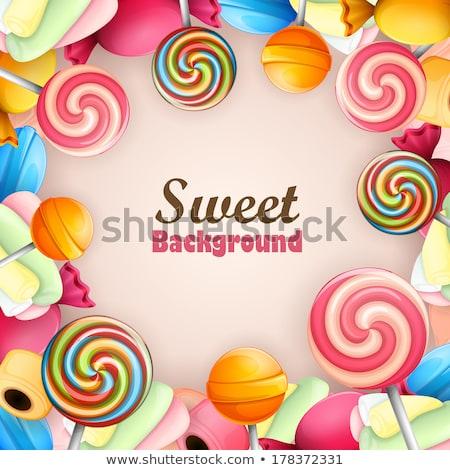 Birthday candy frame stock photo © OliaNikolina