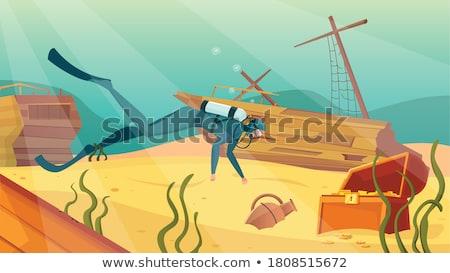 海 · ボトム · 古い · お金 · デザイン - ストックフォト © bluering