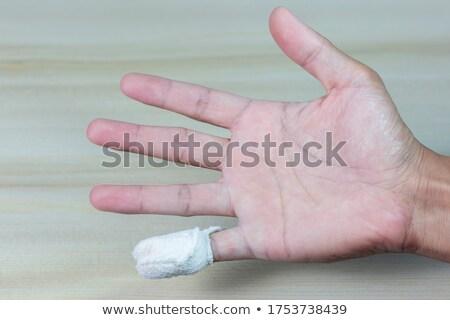 Injured finger with bloody bandage Stock photo © CsDeli