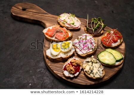 salada · comestível · fresco · brócolis · topo · ver - foto stock © melnyk