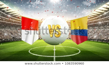 Football match Pologne vs Colombie football Photo stock © Zerbor
