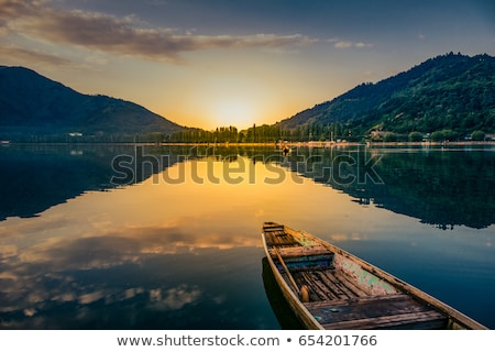 Sunset Reflection With Jetty Stock photo © THP