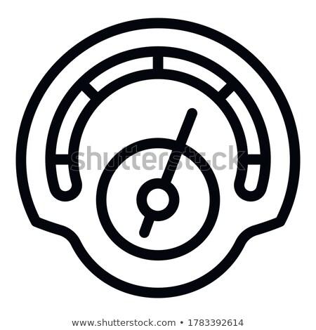 футуристический спидометр интерфейс изолированный белый компьютер Сток-фото © kyryloff