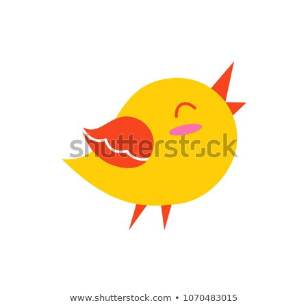 Bird in Good Mood Creature Vector Illustration Stock photo © robuart
