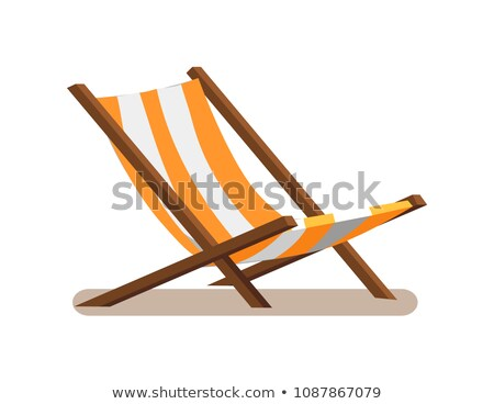 Hammock-Chair with Stripes Vector Illustration Stock photo © robuart