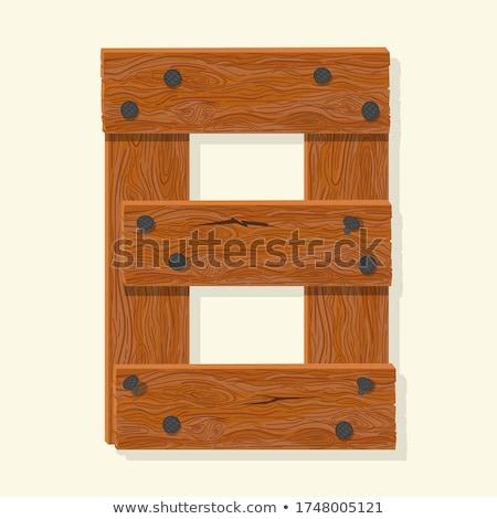 Numer drewna pokładzie chrzcielnica osiem symbol Zdjęcia stock © popaukropa