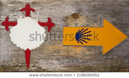 Santiago teken galicië Spanje manier Stockfoto © lunamarina