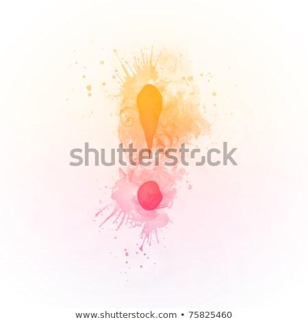 Güneşli girdap ünlem işareti yalıtılmış beyaz bilgisayar Stok fotoğraf © RAStudio