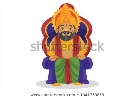 Cartoon · sonriendo · ilustración · persona · tipo · pie - foto stock © cthoman