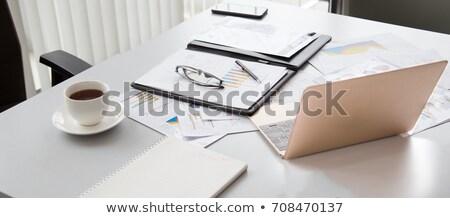 Bilgisayar ekranı büro tok kâğıt belgeler çalışmak Stok fotoğraf © robuart