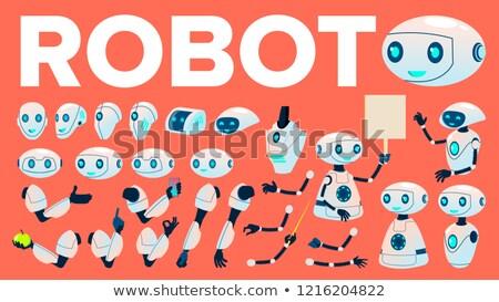 robô · cabeça · isolado · cyborg · cara · metal - foto stock © pikepicture