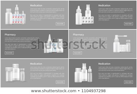Pharmacie affiche spray contenant capsule pilules Photo stock © robuart