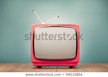 Vintage · телевидение · икона · вектора · изолированный · белый - Сток-фото © rogistok