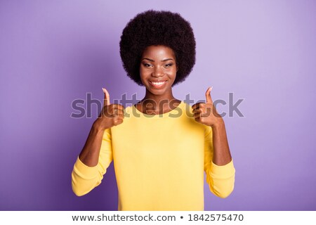 アフリカ 女性 孤立した バイオレット ストックフォト © deandrobot