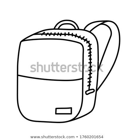 Back to School Backpacks Set Vector Illustration Stock photo © robuart