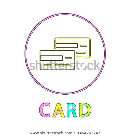 Card Payment Method Lineout Style Framed Icon Stock photo © robuart