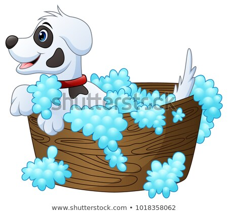 Cartoon dálmata bano ilustración toma limpio Foto stock © cthoman