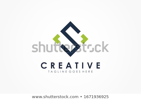 Brief logo groene teken symbool vector Stockfoto © blaskorizov