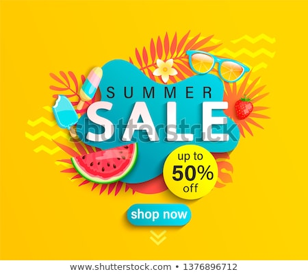 Summer Sale Summertime Banner Vector Illustration Stock photo © robuart