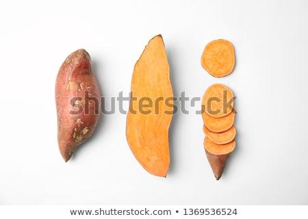 Fresh organic orange sweet potato top view stock photo © szefei