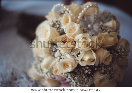 bridal bouquet of roses flowers with white shoes Stock photo © ruslanshramko