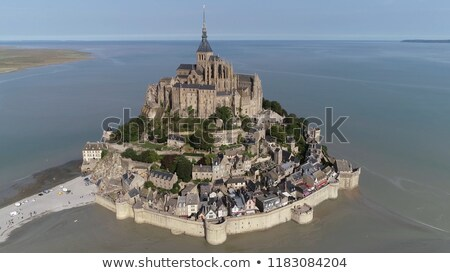 Mont Saint Michel in Normandy, a popular UNESCO world heritage s Stock photo © doomko