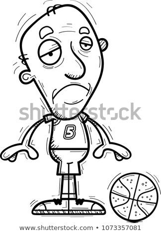 sad cartoon senior basketball player stock photo © cthoman