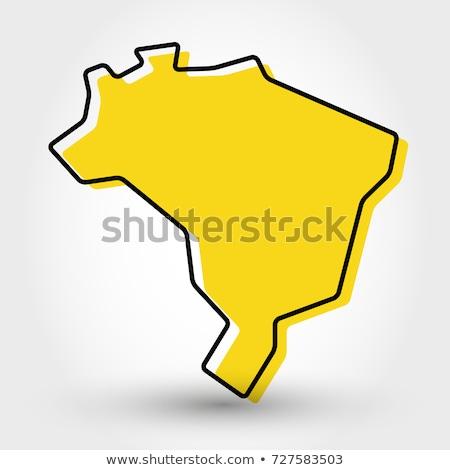 ブラジル 定型化された 地図 ベクトル アイコン シンボル ストックフォト © blaskorizov