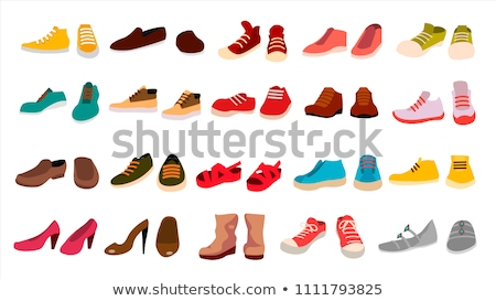 Cartoon обуви иллюстрация моде смешные Сток-фото © bennerdesign
