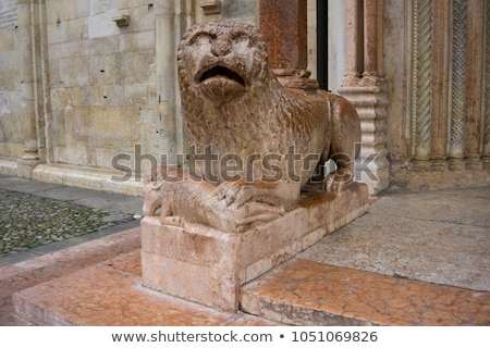 Sculpture lion prier Italie vue bâtiment Photo stock © boggy