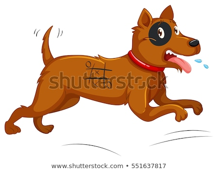 Dog with painted body running away Stock photo © colematt