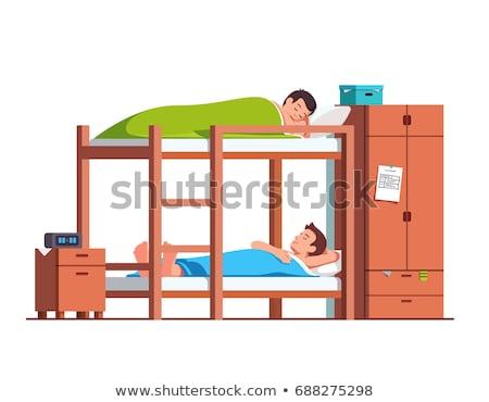 children sleeping on bunk bed stock photo © colematt