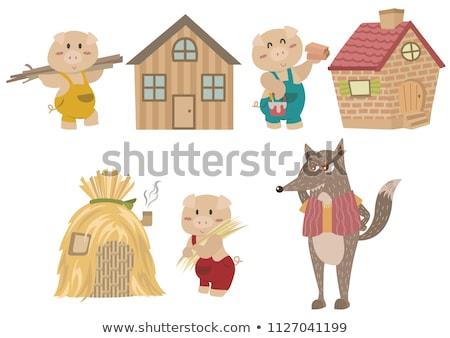 Bajki domu dżungli ilustracja lasu charakter Zdjęcia stock © bluering