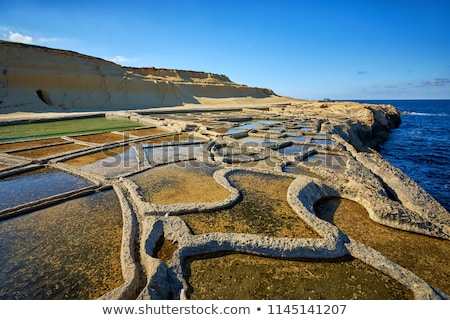 Salt Pans on Gozo Island at Malta Stock photo © boggy