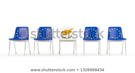 стульев флаг Евросоюз Кипр изолированный Сток-фото © MikhailMishchenko
