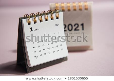 Calendario cartone carta business piano organizzatore Foto d'archivio © robuart