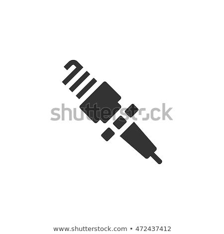 искрить Plug икона цвета дизайна автомобилей Сток-фото © angelp
