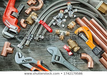 Encanamento ferramentas construção abstrato colagem Foto stock © Kurhan