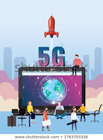 Zellulären Kommunikation High-Speed- Internet Service Web Stock foto © robuart