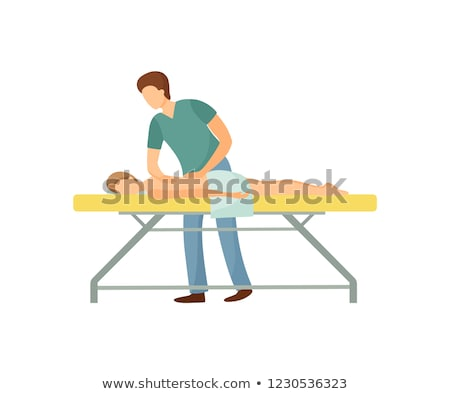 Massage masseur uniform spa salon vector Stockfoto © robuart