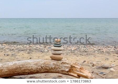 Stack of rocks on the coast of Lake Superior  Stock photo © Sandralise