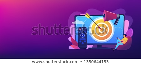 Tv hirdetés szalag fejléc üzletember távirányító Stock fotó © RAStudio