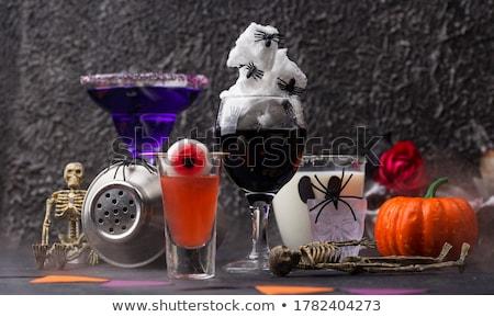 Scary koktajl halloween różowy candy oczy Zdjęcia stock © BarbaraNeveu