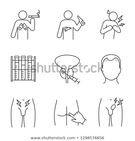 Male Reproductive System Vector Line Icons Stock photo © smoki