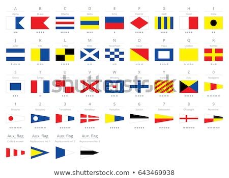 Internationaux signal nautique drapeaux alphabet isolé Photo stock © ukasz_hampel