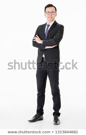 Portre başarılı yönetmen adam takım elbise konuşma Stok fotoğraf © deandrobot