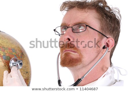 funny doctor examine a globe  Stock photo © vladacanon