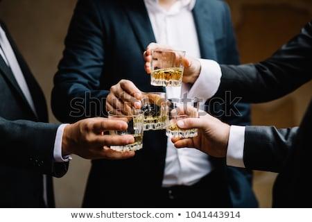 blue suit Glasses man_alcohol Stock photo © toyotoyo