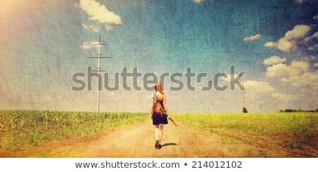 yellow clothing girl_classic music Stock photo © toyotoyo