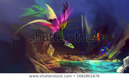 A dragon live in the cave Stock photo © bluering